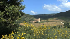 Tuscany Abbey of Sant' Antimo 7 Stock Footage