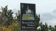 Tuscan Strada del Vino Montepulciano - stock footage