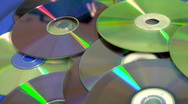 Stock Video Footage of compact discs
