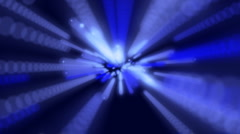Blue particle background - stock footage