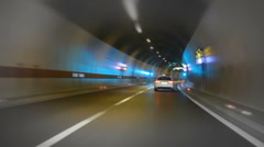 Car Driving Tunnel Stock Footage