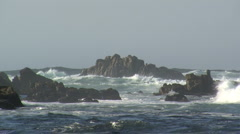 Rough sea along the oceanic drive Stock Footage