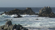 Stock Video Footage of Rough sea along the oceanic drive