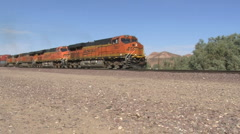Freight train Along Route66 Stock Footage