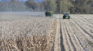 Stock Video Footage of corn harvest time lapse