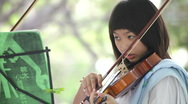 Stock Video Footage of Game on a violin