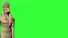 Green Screen Horus Stock Footage