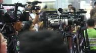 Telecast shootings Stock Footage
