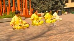 Religion & faith, Falun Dafa (Falun Gong), practicing, medium shot, # Stock Footage