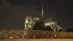 Photographer on Paris Bridge timelapse Stock Footage