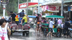 celebrating Songkran - stock footage