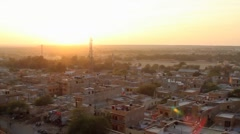 Stock Video Footage of jaisalmer roofs timelapse