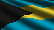 Bahamas flag close up Stock Footage