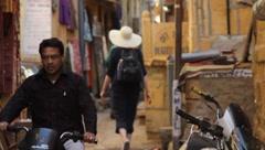 Jaisalmer Streets India Stock Footage
