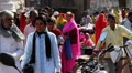 Indian colourful market HD Footage