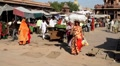Indian women in market Footage
