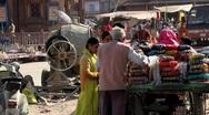Jodhpur Market Rajasthan India Stock Footage