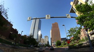 Fisheye View Driving in Downtown Pittsburgh Stock Footage