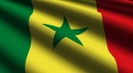 Senegal flag close up Stock Footage