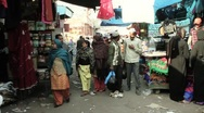 Stock Video Footage of Walk through Old Delhi streets