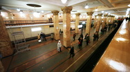 Revival of passengers on subway and train arrives at station, part1 Stock Footage