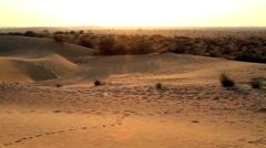 Stock Video Footage of Rajasthan desert pan
