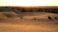 Stock Video Footage of Rajasthan desert pan