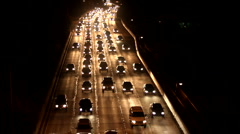 Traffic 16 - Night Real time Stock Footage
