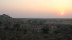 Sunset over Rajasthan timelapse Stock Footage