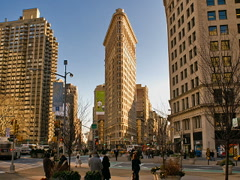 New York Flatiron Building Time-lapse Cars Pedestrians Traffic – 320x240 Stock Footage