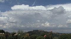 Tuscany Montalcino with thunderhead 2 Stock Footage