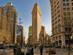New York Flatiron Building Time-lapse Cars Pedestrians Traffic – 640x480 Stock Footage