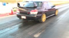 Motorsports, drag racing, Subaru WRX Stock Footage