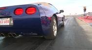 Motorsports, drag racing, corvette launch Stock Footage