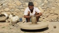Indian potter Rajasthan Footage