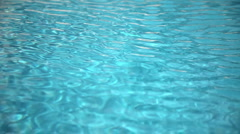 Abstract wave pattern in the swimming pool - stock footage