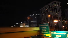 Pittsburgh City Night Driving 2116 Stock Footage