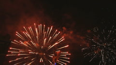 Real fireworks - stock footage