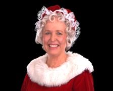 Mrs. Claus Smiling Stock Footage