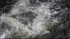 White Water rushing over rocks 2 Stock Footage