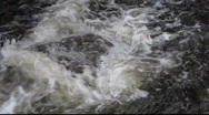 Stock Video Footage of White Water rushing over rocks 2