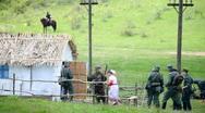 Nazi soldiers seized village Stock Footage