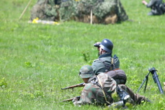 Nazi soldiers in battle Stock Footage