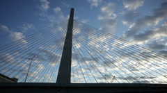 Zakim bridge sunset Stock Footage