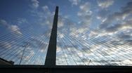 Zakim bridge sunset Stock Footage