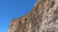 Puerto Rico - El Morro Fortress High Walls - stock footage