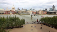 London St Pauls Cathedral - Wide Stock Footage