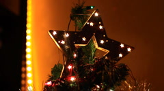 Christmas Tree Top Stock Footage