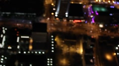 Downtown aerial bokeh steady cam 1080p.mp4 Stock Footage