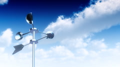Anemometer (Loop) - stock footage
